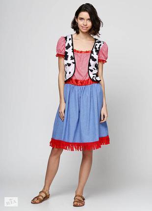 Маскарадное платье девочки-ковбоя пастушки на 7-10 лет