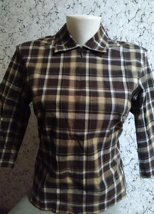 Скидка!фирменная женская рубашка в клетку