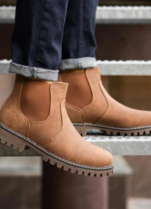 Sale рыжие челси ботинки мужские зимние