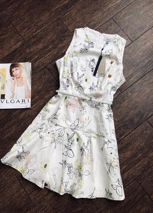 Шикарное натуральное цветочное платье большого размера от coas...