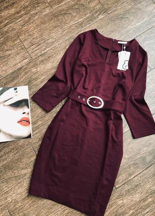 Очень красивое винного цвета  платье большого размера