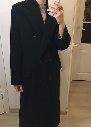 Virgin wool+cashmere бойфренд пальто в пол/длинное пальто из ш...