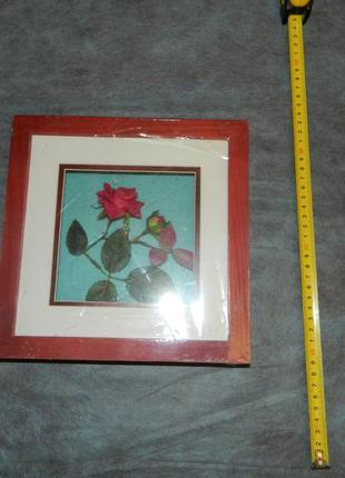 Картина объемная роза. 3d картина.