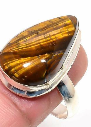 Кольцо с тигровым глазом,стерлинговое серебро 925