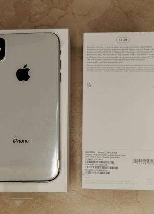 Новый Apple IPhone X 64gb (Silver/Белый)