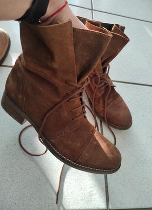 Натуральна шкіра, замш, черевики