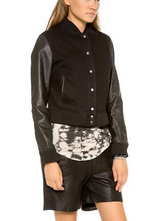 Oak дизайнерская кожаная куртка бомбер acne balenciaga
