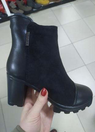 Женские зимние ботинки каблук