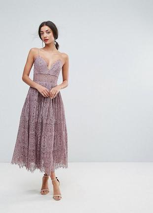 Красивое новое кружевное платье asos