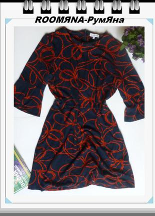 Стильное платье классический принт узлы хороший размер в стиле...
