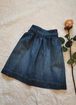 Джинсовая юбка размер 34-36 okaidi