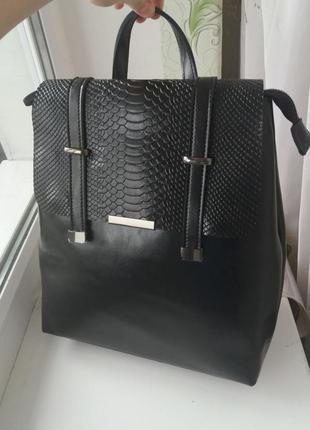 Женский кожаный рюкзак портфель жіночий шкіряний из натурально...