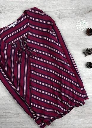 Красивая блуза/рубашка в полоску с имитацией  на запах next