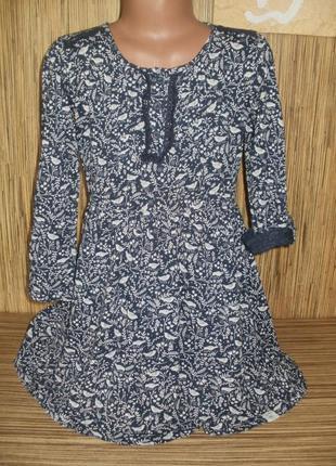 Платье трикотажное с длинным рукавом  mantaray на 7-8 лет