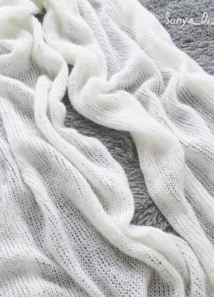 Шикарный шарф-палантин из кидмохера с мериносом