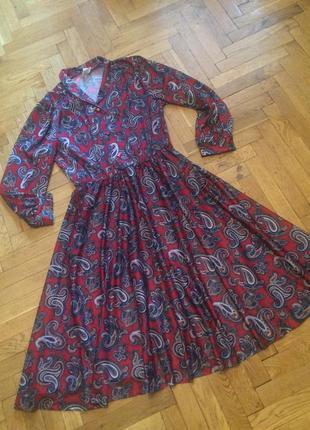 Шикарное платье миди ,длинный рукав,принт пейсли, от бренда je...