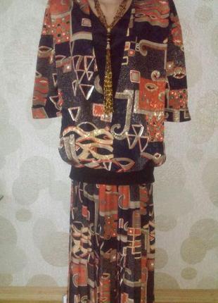 Винтажное изумительное платье в стиле ретро с принтом