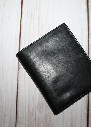Компактный кожаный кошелек-портмоне 100% натуральная кожа