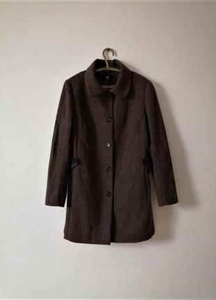 Стильное пальто 50% шерсть