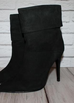 Sasha fabiani стильные замшевые ботинки/полусапожки 37 размер ...