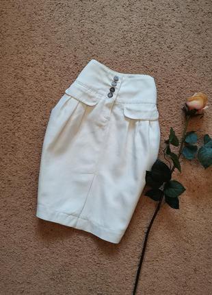 Льняная юбка карандаш тюльпан размер 34 xs marco o polo