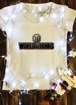 Женская футболка  с принтом - world of tanks
