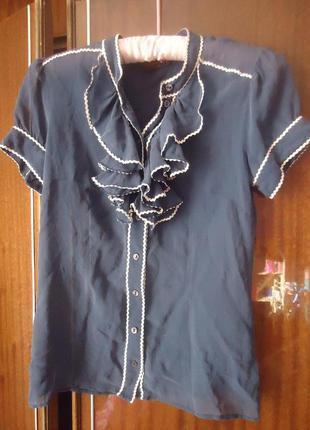 Базовая шелковая блуза