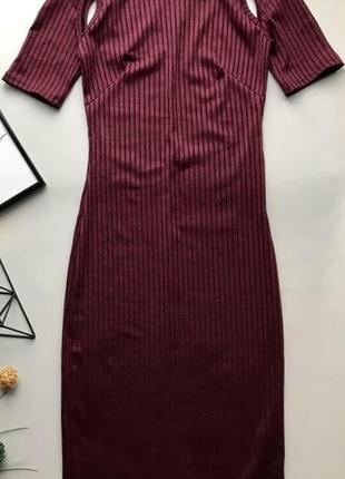 Платье в рубчик цвета марсала  atmosphere размер 14/16