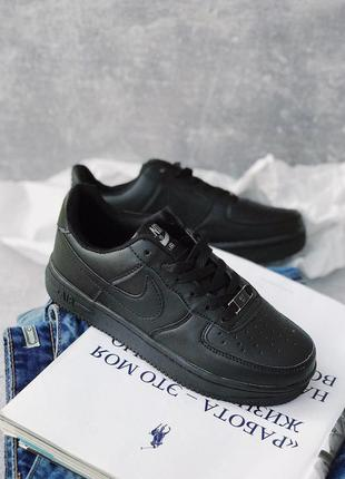 Шикарные женские кроссовки nike air force 1 black 😍 {весна/ ле...