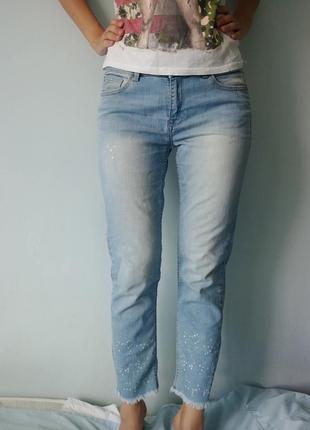 Крутые джинсы с пятнами краски