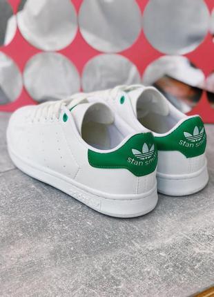 Шикарные женские кроссовки adidas stan smith white green 😍 {ве...