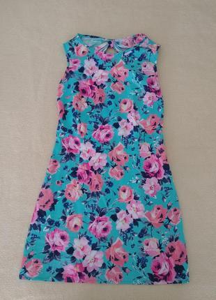 Хлопковое платье с цветочным принтом