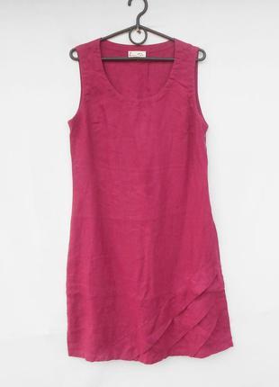 Льняное летнее  платье миди  enna