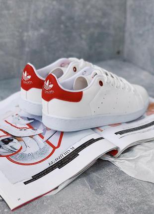 Шикарные женские кроссовки adidas stan smith white_red 😍 {весн...