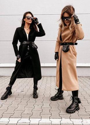 Длинное кашемировое пальто 🌷4 цвета