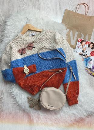 🌿 теплый вязаный свитер stradivarius с обьемными рукавами в го...