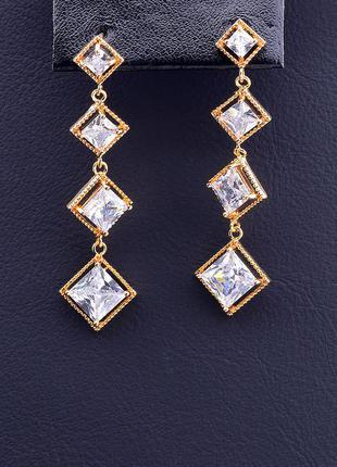 Серьги 'xuping' фианит (позолота 18к) 0875770