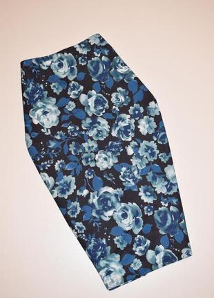 Качественная юбка карандаш в цветочный принт george