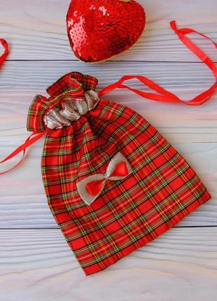 Эко мешок, торбочка, мешочек для подарка, хранения 03