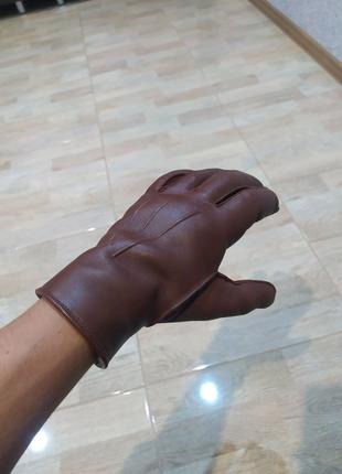 Продам мужские кожаные перчатки с мехом
