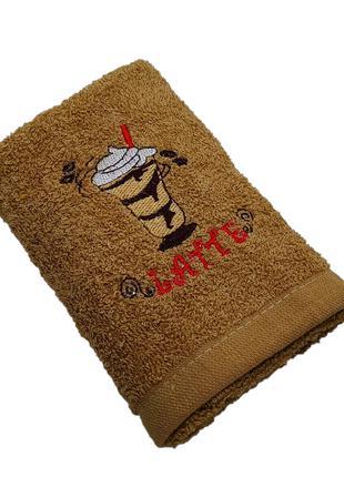 Махровое полотенце для кухни Luxyart 35*70 см коричневый (L321)