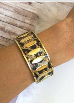 Распродажа! браслет леопардовий под золото.