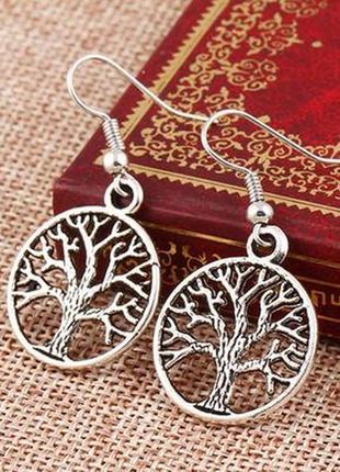 """Серьги """"дерево жизни""""."""