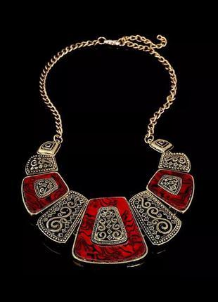 Стильное колье, ожерелье под бронзу/эмаль/в наличии три варианта