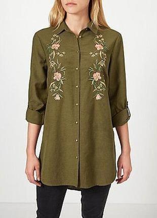 Рубашка с вышивкой размер 18-20 george