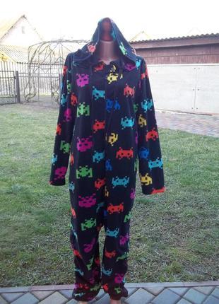 ( 50  р) флисовый комбинезон пижама кигуруми мужская