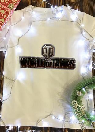 Мужская футболка с принтом - world of tanks