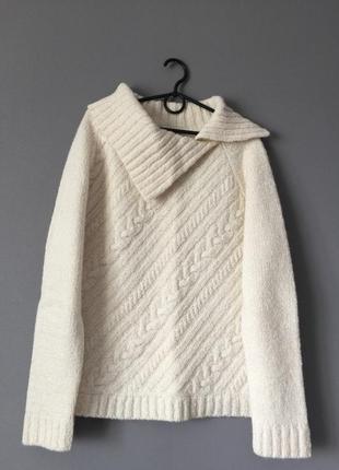 Теплый свитер с косами wallis 18---54 размер.