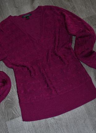 Коттоновый реглан свитер джемпер v-образный вырез от ralph lau...