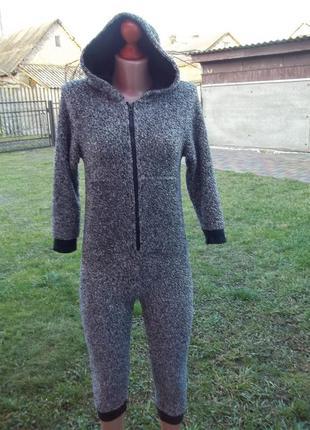 ( 8 лет на рост 128 см) next флисовый комбинезон пижама кигуру...